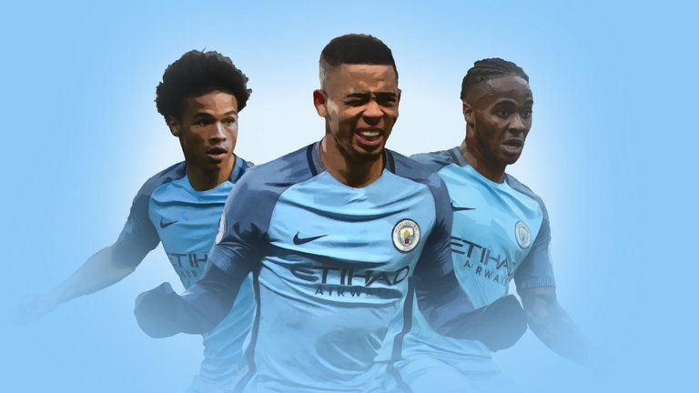 Gabriel Jesus, Raheem Sterling And Leroy Sane Are Man City