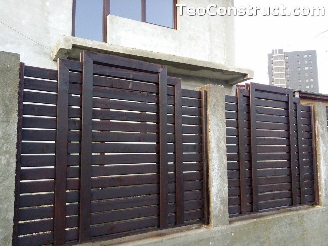 Garduri si porti din lemn 3 modele garduri din lemn for Modele de balcon din lemn