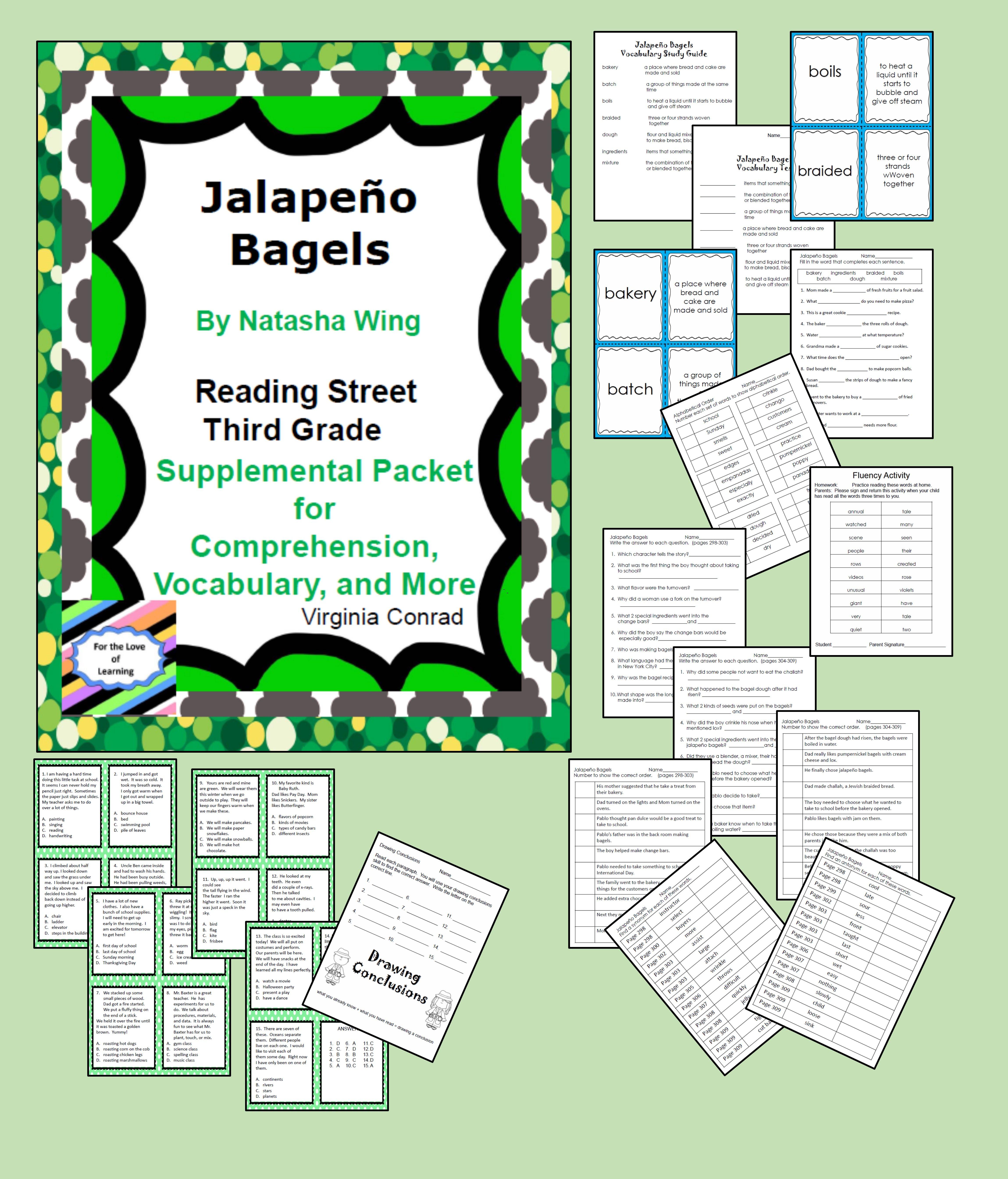 Jalapeno Bagels Supplemental Packet Reading Street Third