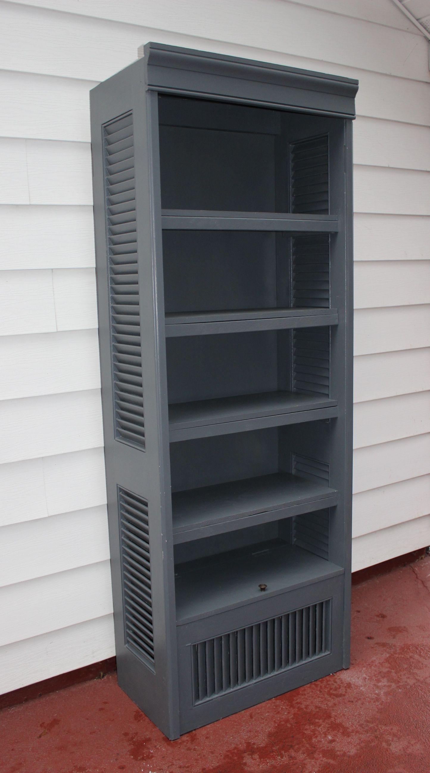 Bi Fold Shutter Doors Repurposed Into A Modern Shelf Wall Unit By  # Muebles Postigo