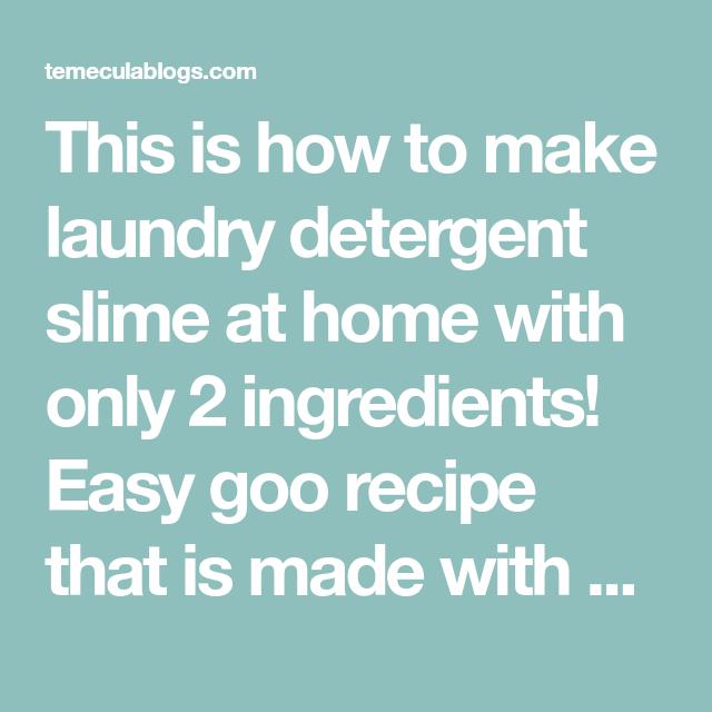 Laundry Detergent Slime Laundry Detergent Slime