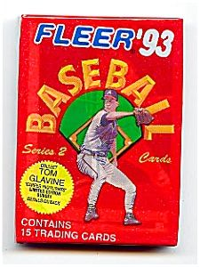 1993 Fleer Baseball Cards Series 2 Five Unopened Packs