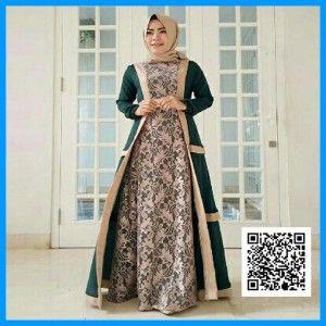 Baju Gamis Modern Hijab Marbela Mgs25 Hijau Baju Gamis