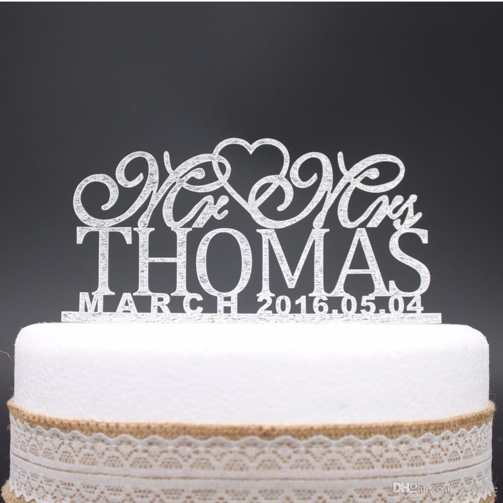 monogram wedding cake toppers cheap cheap personalized wedding cake toppers custom name date 5999
