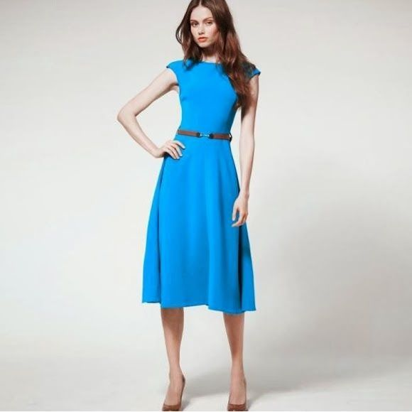acff12722cc0 Charming Sleeveless Womens Pleated Career Formal Midi Dress Princess Swing  7003  Unbranded  Tunic  Formal