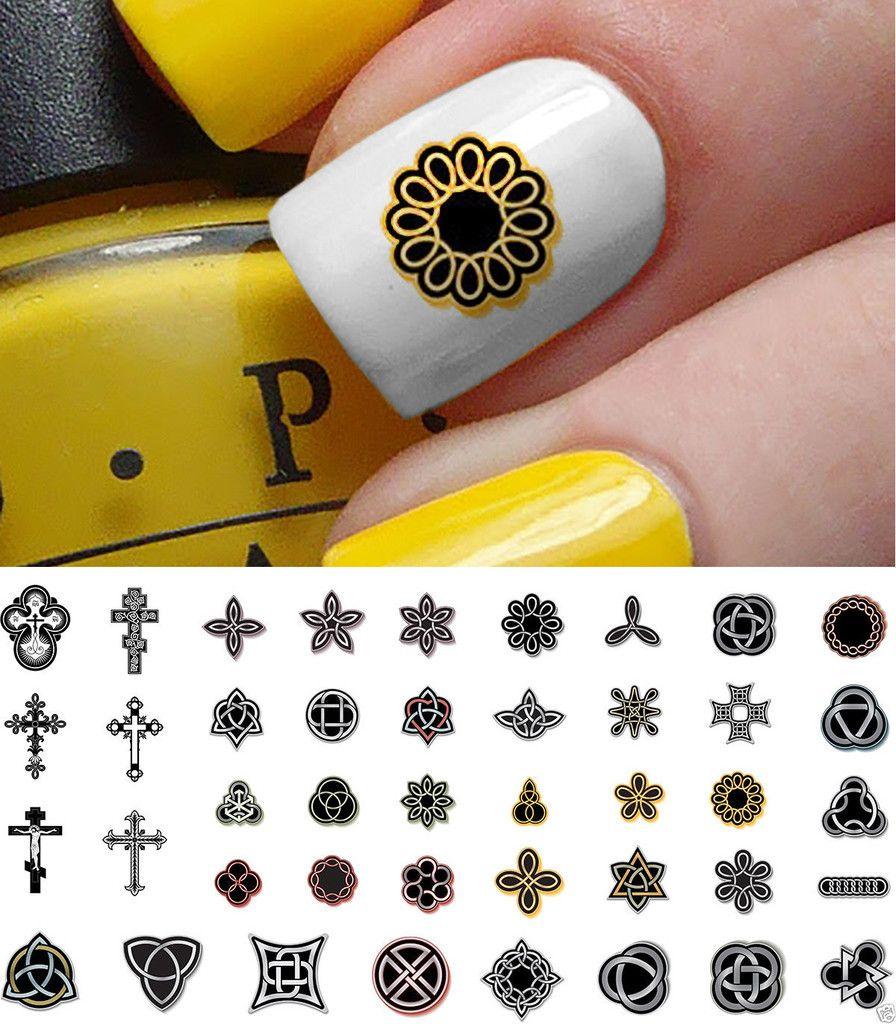 Celtic Cross Nail Art Decals Set #2 | Irish nails, Nail decals and ...