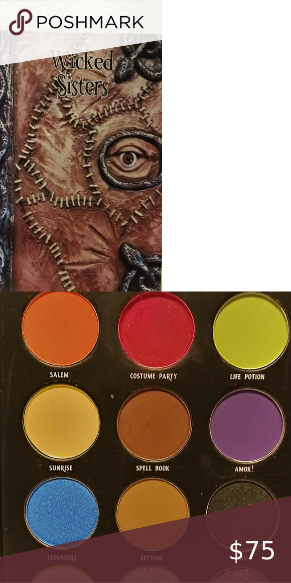 Hocus Pocus Spell Book Eyeshadow Palette Inspired By The Movie This Palette Is In The Design Of The Booooook Eyeshadow Hocus Pocus Spell Book Eyeshadow Palette