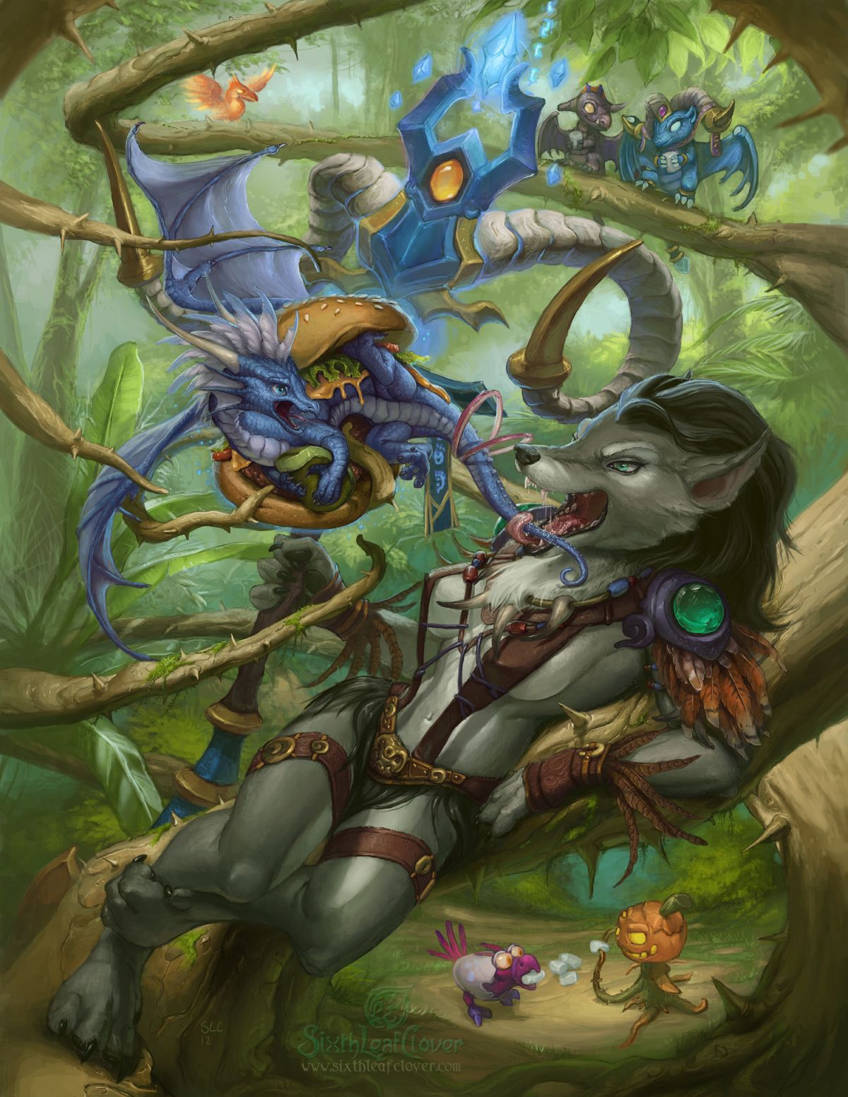 Entangling Roots By The Sixthleafclover Deviantart Com Warcraft