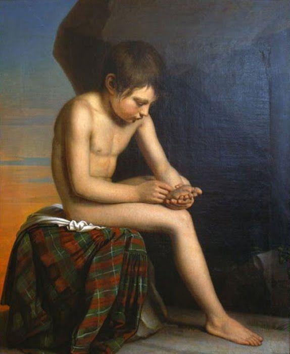 Naked boy painting 2