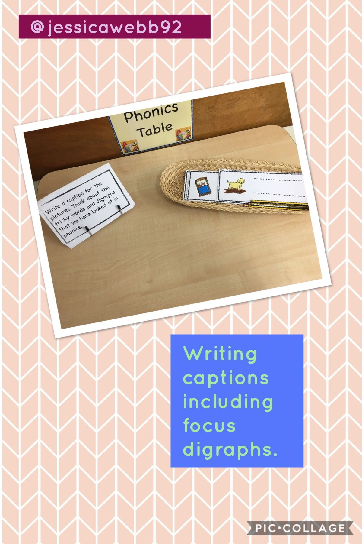 Writing Captions For Words Including Focus Digraphs