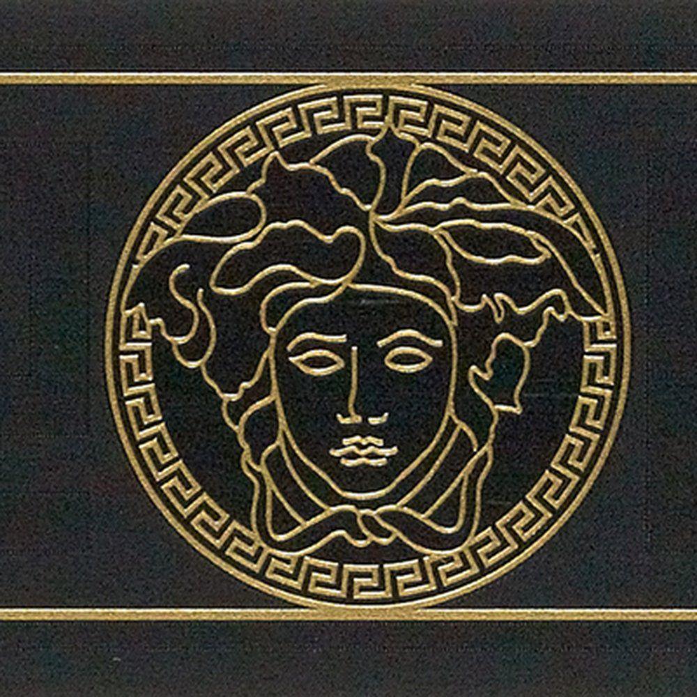 Frise Vinyle Versace Greco Coloris Noir Vinyle Versace Papier Peint