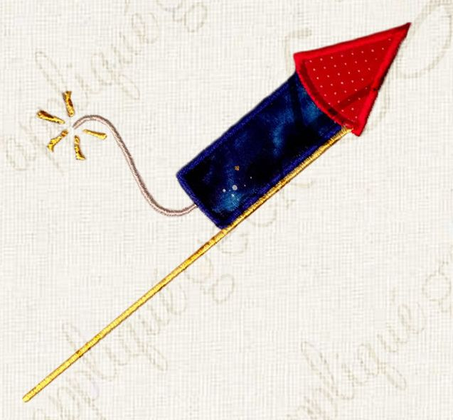 4th of July Firework Applique