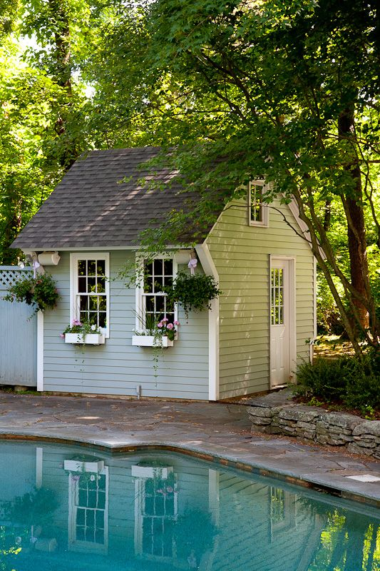 Garden Sheds | Bailey Carpentry Garden Shed In Farmington CT | Pool Sheds