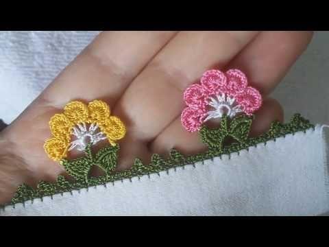 TIĞ OYASI İĞNEDEN TIĞA KELOĞLANLA PAPATYA YAPIMI(daisy crochet