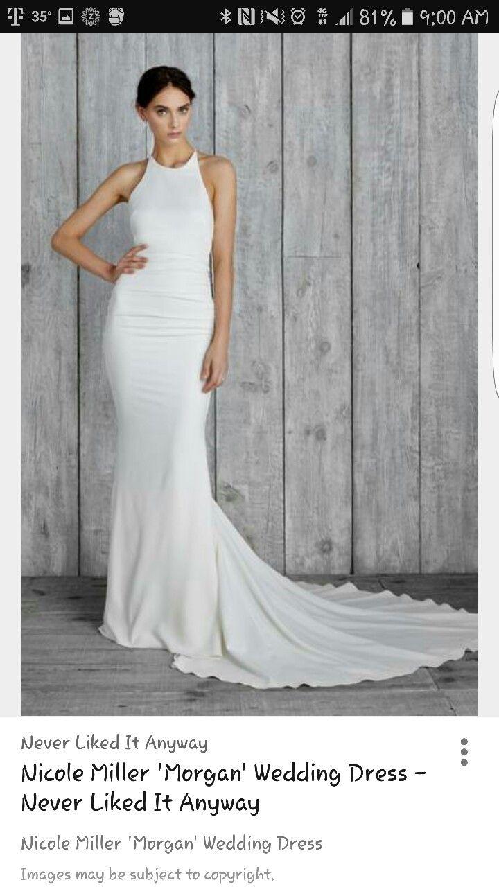 Nicole Miller Morgan Gown Halter Wedding Dress Wedding Dresses Top Wedding Dresses