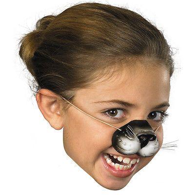 Black Cat Nose Girls Womens Kitty Whiskers Kitten Kids Adult Latex Costume Prop