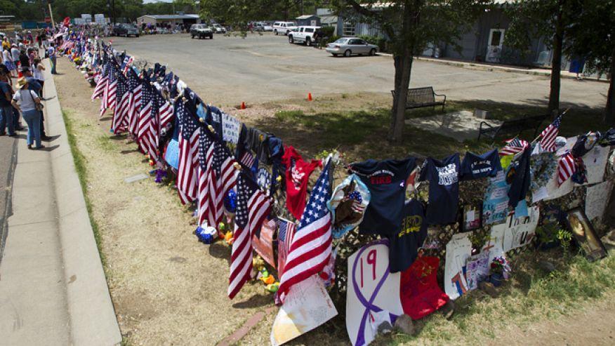 Funeral procession brings home fallen arizona hotshot
