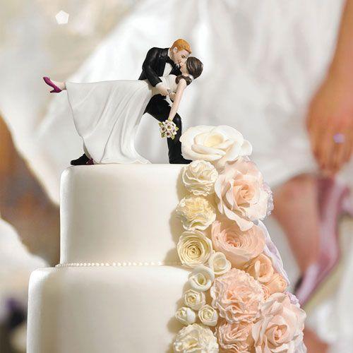 """A Romantic Dip"" Dancing Bride and Groom Couple Figurine - Weddingstar"