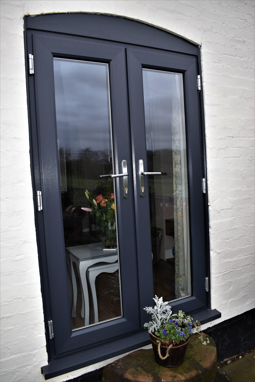 Anthracite Grey Upvc French Doors In 2020 Upvc French Doors Upvc French Doors Patio