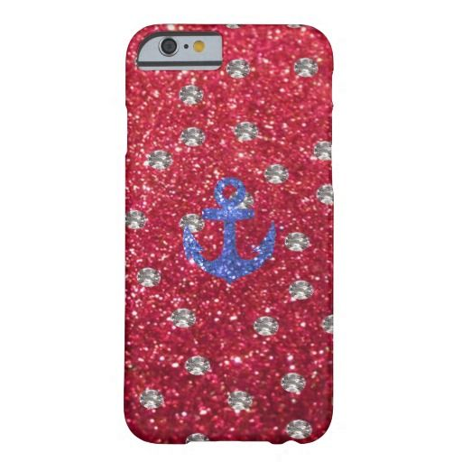 red glitter funda de iPhone 6 barely there