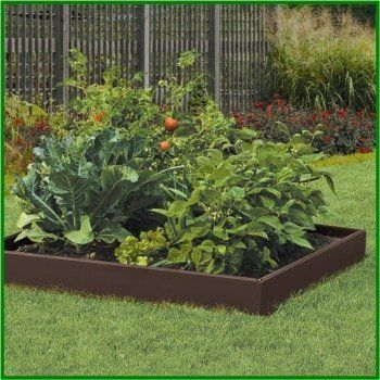 Suncast Rb448 Raised Garden Construction Kit By Suncast 50 15 Includes 8 Panels 12 Connectors And 16 Steel Spikes Rigid Resin Construction Fo Herbe Images