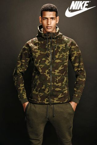 Buy Nike Camo Tech Fleece Windrunner from the Next UK online