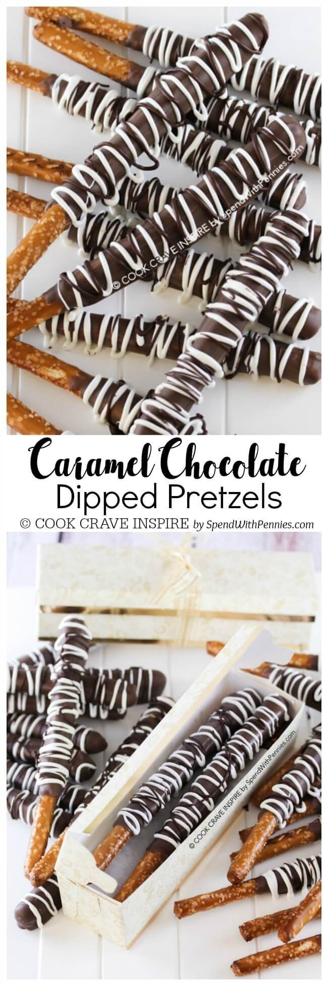 This Caramel Chocolate Covered Pretzels recipe is the perfect ...