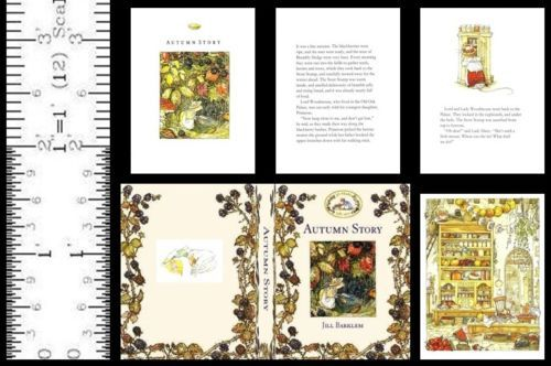 1:6 SCALE MINIATURE BOOK AUTUMN STORY BRAMBLY HEDGE PLAYSCALE BARBIE