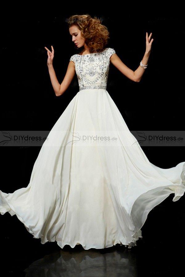 white prom dress | abendkleid, ballkleid, abendkleider