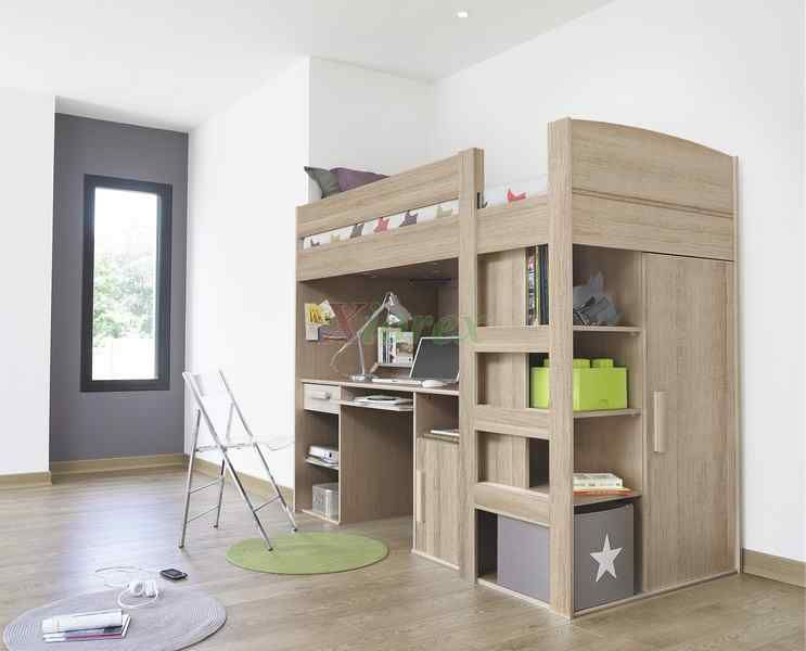Gami Largo Loft Beds for Teens Canada with Desk & Closet | Xiorex ...