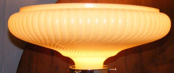VINTAGE FUNERAL HOME IRIDESCENT FLOOR TORCHIERE LGE. LAMP GLASS ...