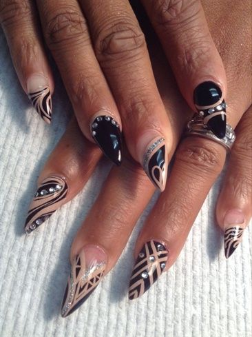 nude black by alysnails nail art gallery. Black Bedroom Furniture Sets. Home Design Ideas