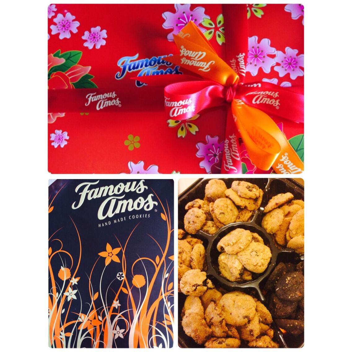 Famous amos cookies gift set