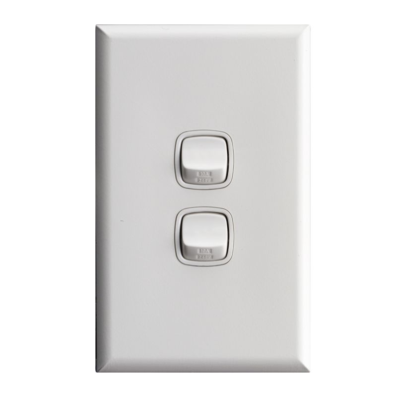 Find Hpm Excel White 2 Gang Light Switch At Bunnings Warehouse Visit Your Local
