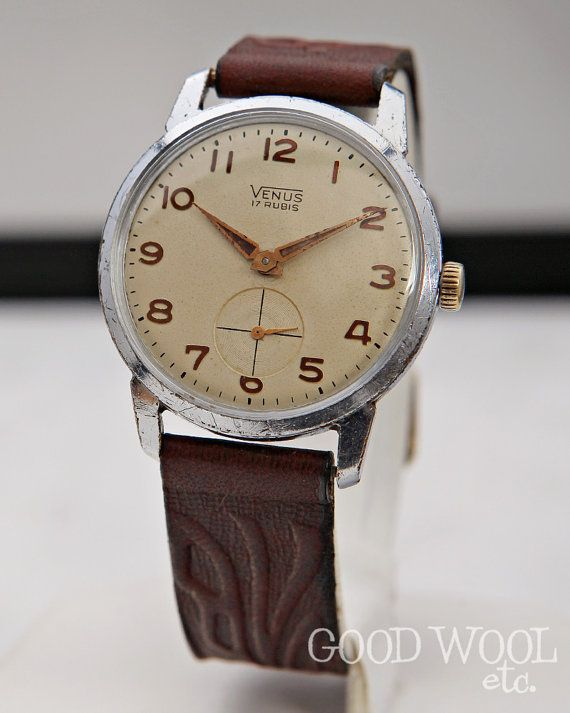 vintage venus watch - fine swiss watch - 1950 s  ec178ab0924