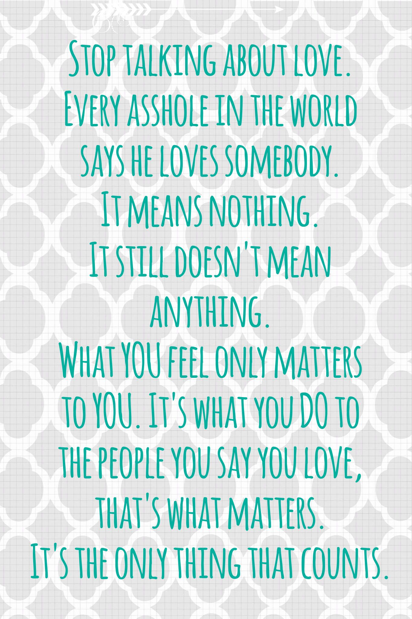 A great quote about love from the movie The Last Kiss