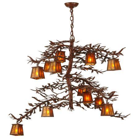 Meyda 147616 Pine Branch Twelve Light Chandelier | Custom ...