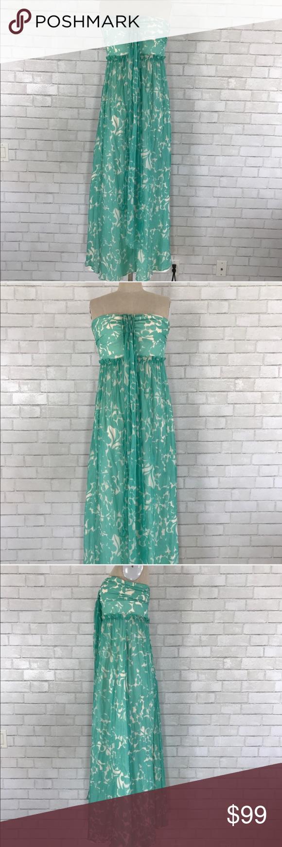 J. Crew white blue wedding Silk Maxi dress size 8 | Corset tops ...