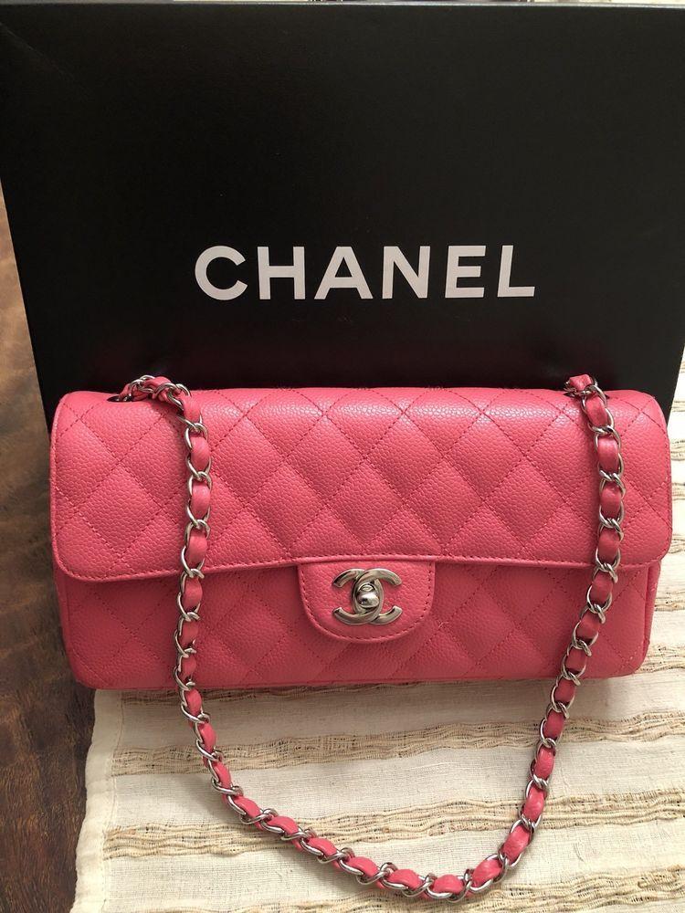e3327b5e278c CHANEL Flap Shoulder Bag Dark Pink Fuschia 25 Front CC Logo Leather Single  Strap #purses #fashion