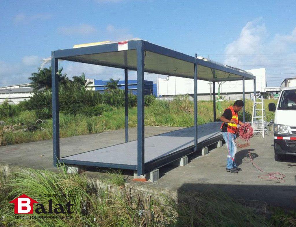 Construcci n de m dulo prefabricado de 12 metros panam - Balat modulos prefabricados ...