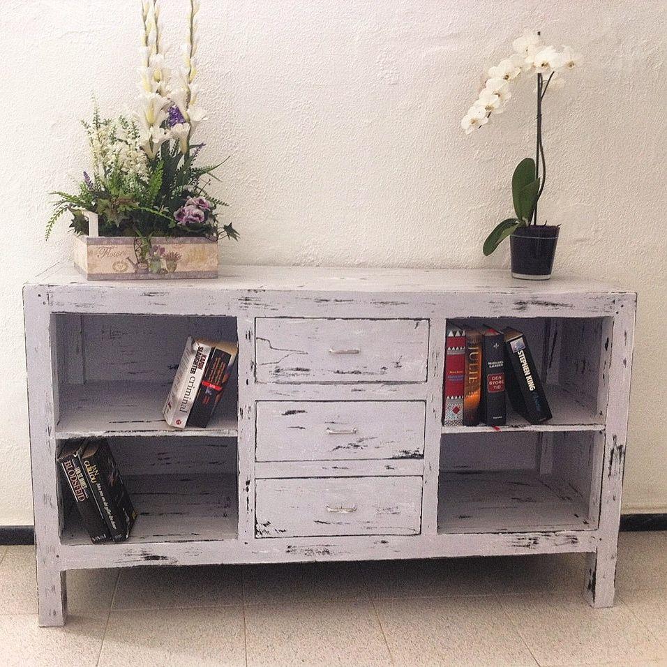 Mueble Patina Gris Envejecida Finished Walls Wood Metal Etc  # Muebles Reformados