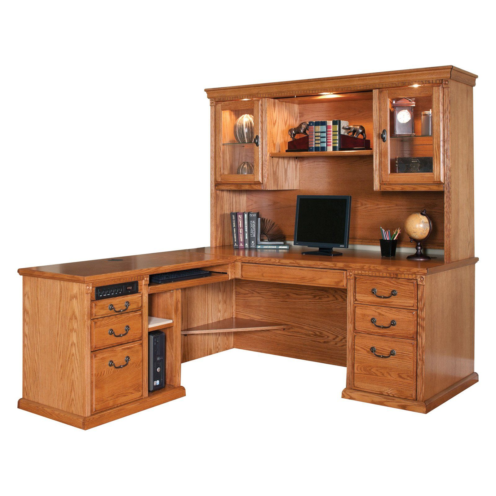 Contemporary Sauder L Shaped Desk With Hutch Huntington Oxford Left Handed Inside Inspiration Decorating