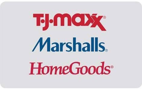 25 Tj Maxx Marshalls Or Homegoods Gift Card Best Gift Cards Marshalls Gift Card Clothes Gift Card