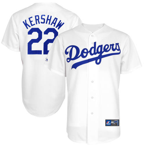 Majestic Clayton Kershaw L A Dodgers Youth Player Replica Screen Jersey White 49 95 Dodgers Los Angeles Dodgers Dodgers Jerseys