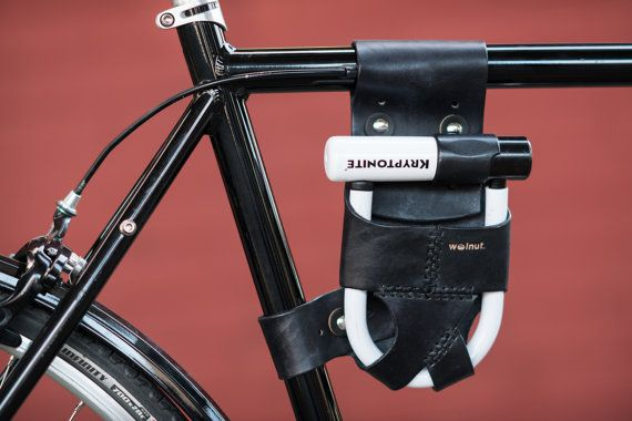 Leather U-Lock Holster Frame-Mounted for by WalnutStudiolo