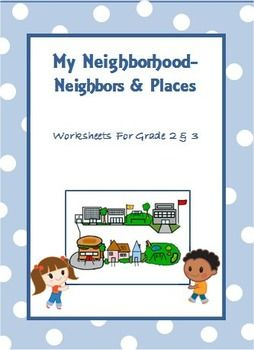 My Neighborhood - Worksheets for Grade 2 & 3 | 2nd grade ...