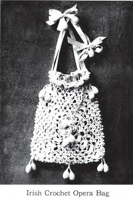 Irish Crochet Opera Bag Grandmother S Pattern Book Take Time To Wander Around This Site Irish Lace Crochet Irish Crochet Crochet Bag Pattern