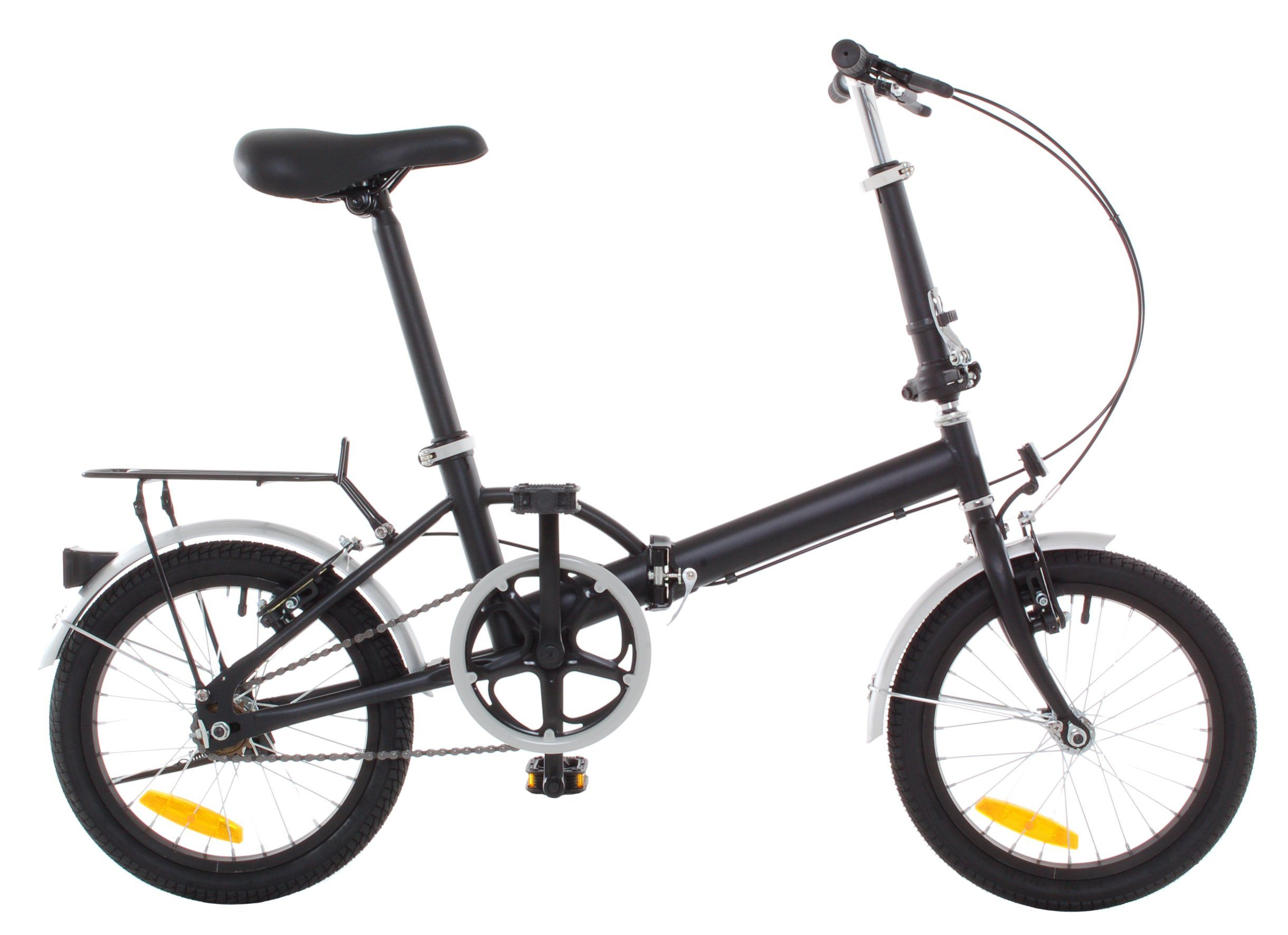 Omega 16 Quot Folding Bicycle Rack Fenders Black Foldable