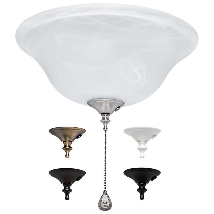 harbor breeze 3 light alabaster incandescent ceiling fan kit lowes com fixtures kits diy fandelier