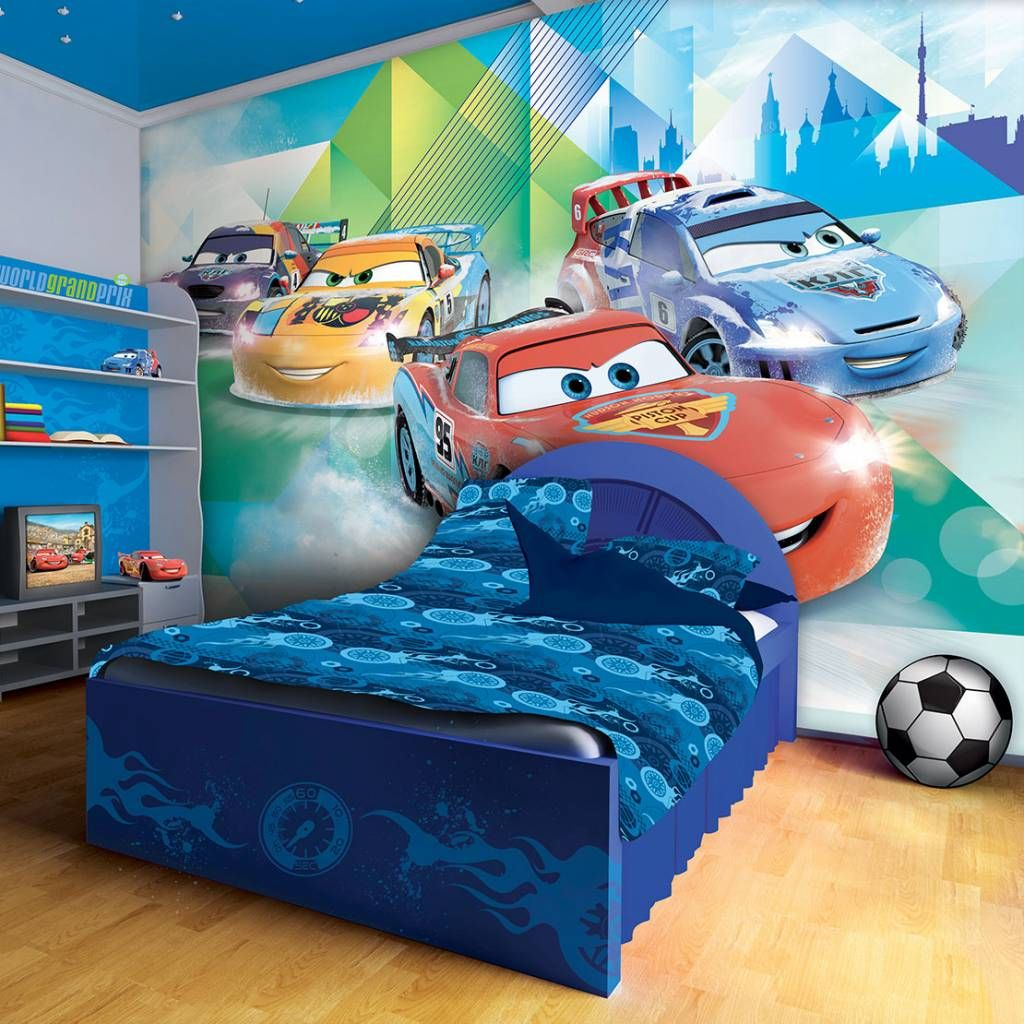 Awesome VLIES POSTER WANDBILD TAPETEN TAPETE KINDER DISNEY CARS AUTOS ROT